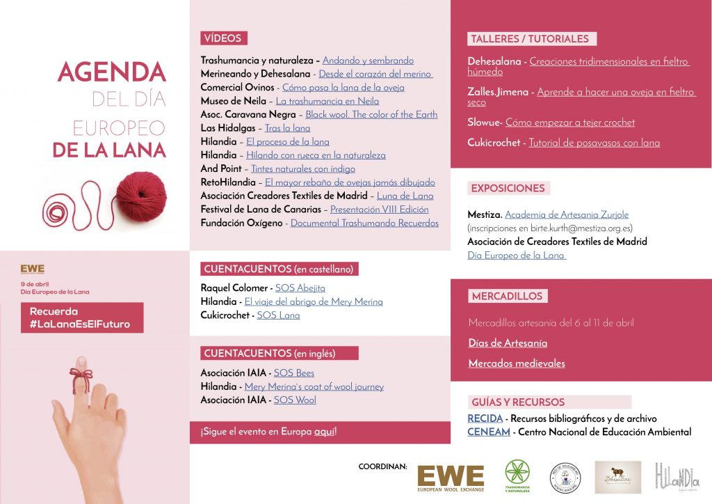 Agenda Dia Europeo de la Lana
